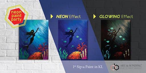 Sip & Paint Night : NEON Paint Party - Glowing Mermaid