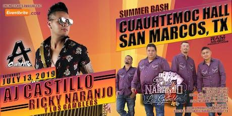 AJ Castillo | Ricky Naranjo Y Los Gamblers - July 13, 2019 in San Marcos, TX tickets