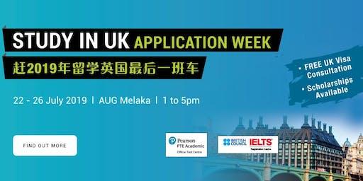 STUDY IN UK APPLICATION WEEK