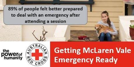 Is McLaren Vale Emergency Ready? tickets