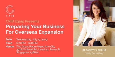 CRIB Equip Presents Preparing Your Business For Overseas Expansion tickets