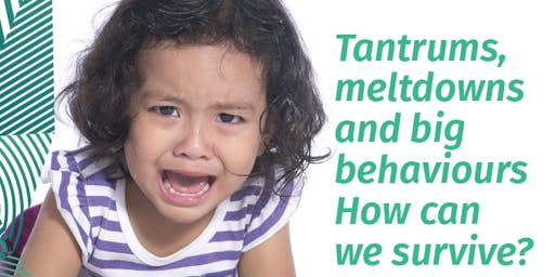 Tantrums, meltdowns and big behaviours - How can we survive?