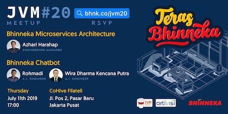 Bhinneka & JVM Indonesia (JVM Meetup #20) - Teras Bhinneka tickets
