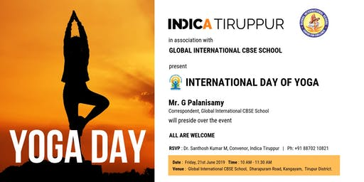 Indica Tiruppur presents International Day Of Yoga