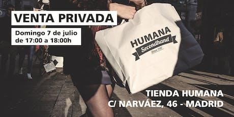 Venta Privada Humana en C/ Narváez, 46 - MADRID entradas