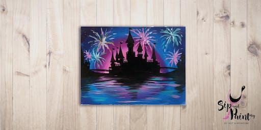 Sip & Paint @ SOULed OUT Ampang : Disney Castle