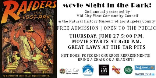 Mid City West Community Council Movie Night in the Park!