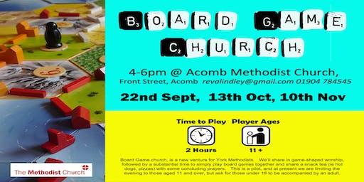 Board Game Church 13th Oct 2019