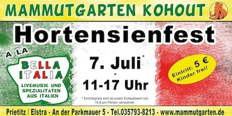 Hortensienfest - Bella Italia Tickets