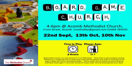 Board Game Church 10th Nov 2019