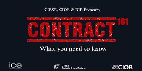 CIBSE Vic, CIOB and ICE Event - Construction Contracts 101 tickets
