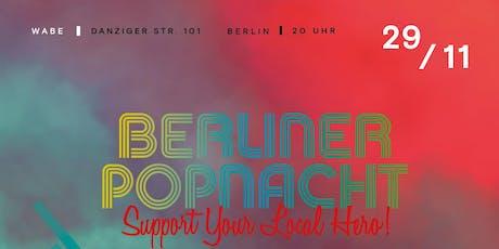 BERLINER POPNACHT 2019 Tickets