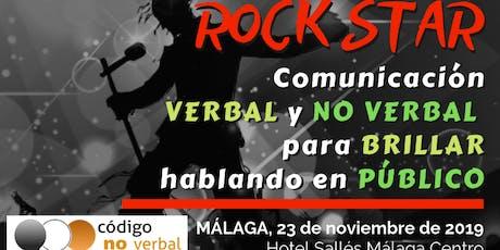 Curso: Rock Star - Comunicación Verbal y No Verbal para brillar hablando en público tickets