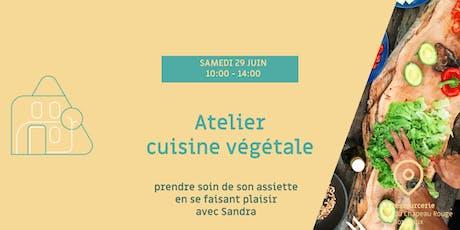 Atelier cuisine végétale billets