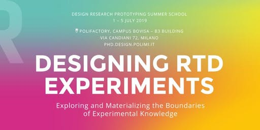 DESIGNING RTD EXPERIMENTS. Exploring and Materializing the Boundaries of Experimental Knowledge