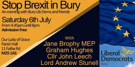 Stop Brexit in Bury tickets