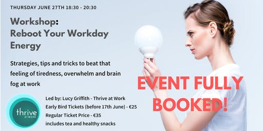 Reboot Your Workday Energy: Workshop
