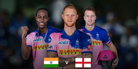 India vs England hosted by The Rajasthan Royals tickets