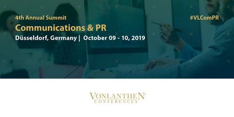 4th Communications & PR Summit tickets