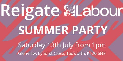 Reigate Labour Summer Party 2019