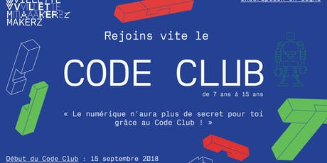 Code Club @Villette Makerz (saison 2019-2020) billets