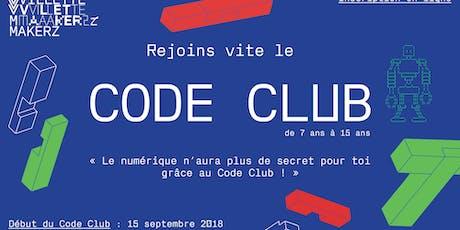 Code Club @Villette Makerz (saison 2019-2020) billets