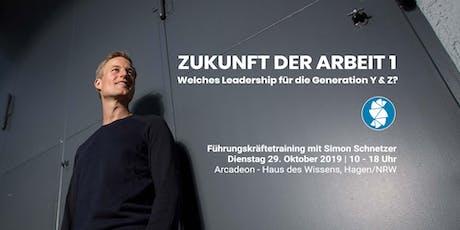 Zukunft der Arbeit 1: Welches Leadership für die Generation Y & Z? Tickets