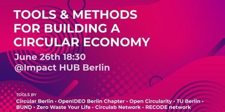 Tools & methods for building a circular economy Tickets