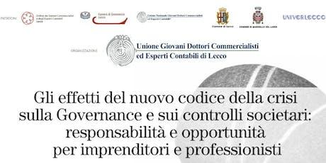 Convegno Unione Giovani Dottori Commercialisti ed Esperti Contabili Lecco 2019 biglietti