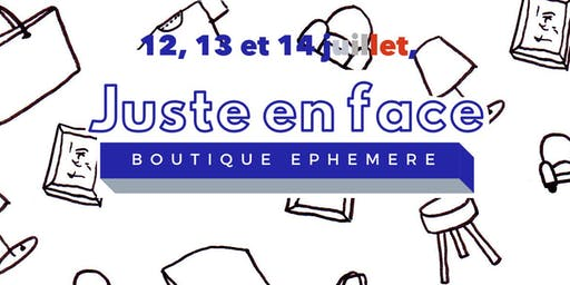 pop up store Juste en Face