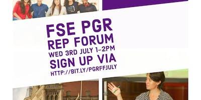FSE PGR Faculty Forum
