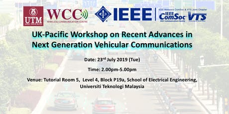 Workshop on Next Generation Vehicular Communications tickets