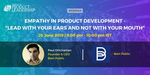 Free Webinar - Empathy in Product Development