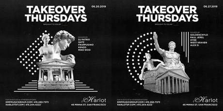 Takeover Thursdays – DJs PATRIX, GATZ, FRAPPUGINO, KENZO & MIKE WOO – HipHop / Top40 / Classic Remixes tickets
