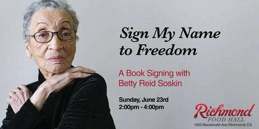 Sunday Afternoon Book Signing & Reading with Betty Reid Soskin