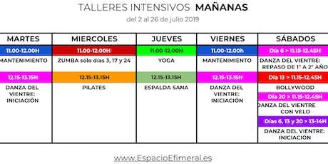 Talleres intensivos de danza en Espacio Efimeral (horario de mañana) entradas