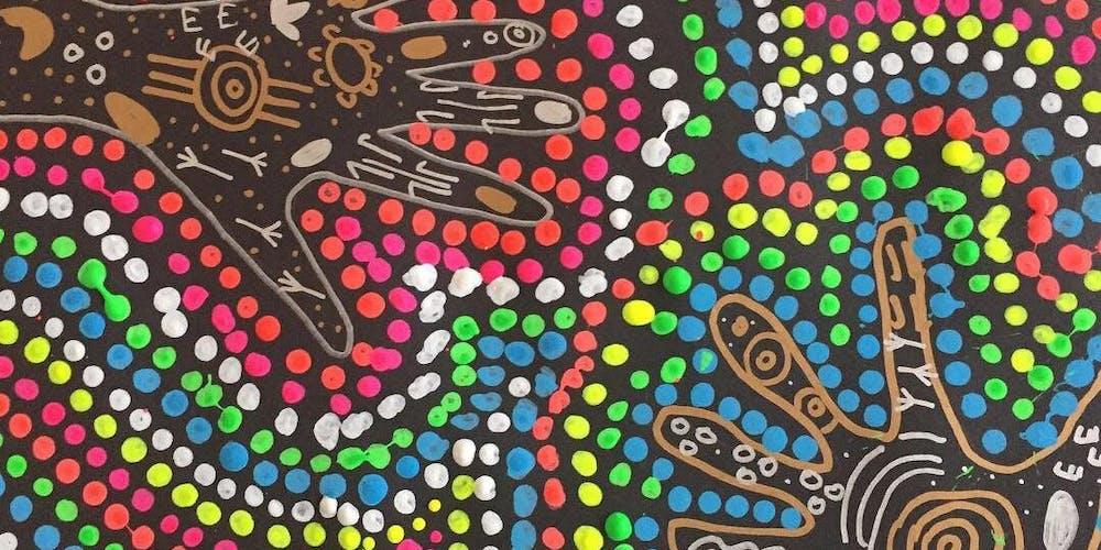 SUMMER ART WORKSHOP: Neon Aboriginal Dot Painting