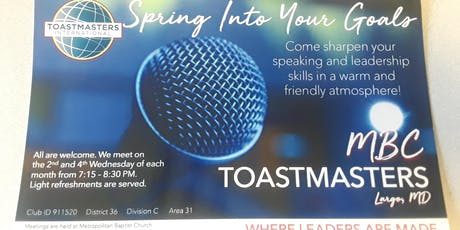 MBC Toastmasters Meeting tickets