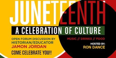 JUNETEENTH: A Celebration of Culture and Open Forum featuring Historian/Educator Jamon Jordan tickets