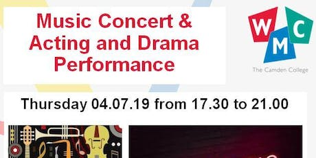 WMC - The Camden College: Music Concert & Acting and Drama Performance tickets