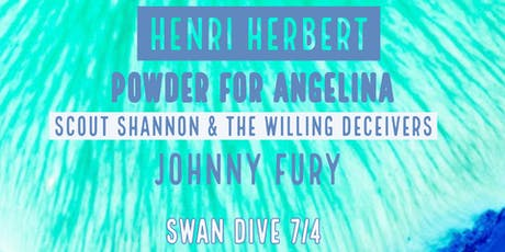 Henri Herbert, Powder for Angelina, Scout Shannon and the Willing Deceivers, Johnny Fury  tickets