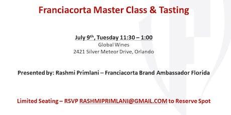 Franciacorta Master Class & Tasting tickets