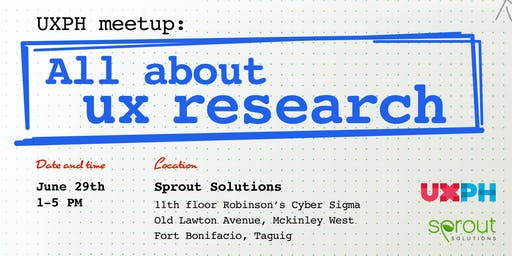 UX Meetup: All About UX Research