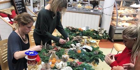 Christmas door wreath decorating  tickets