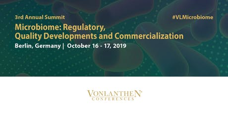 3rd Annual Microbiome: Regulatory, Quality Developments and Commercialization Summit tickets