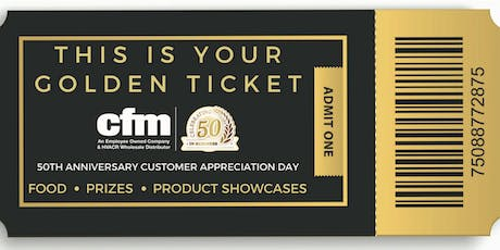 cfm's 50th Anniversary Customer Appreciation Day - Springfield tickets
