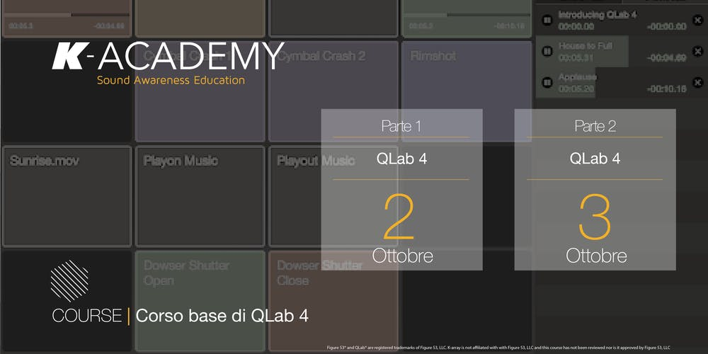Corso base di QLab 4
