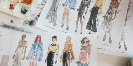 A Day in the Life of A Fashion Illustrator and Developing Your Fashion Portfolio tickets