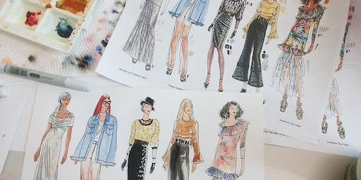 A Day in the Life of A Fashion Illustrator and Developing Your Fashion Portfolio