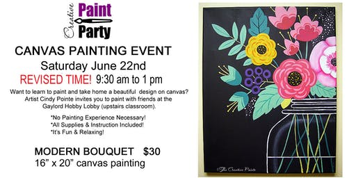 Modern Bouquet -- Saturday June 22   REVISED TIME 9:30 am